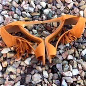 NEW Alex Harrison High Heel Boho Fringe Size 8